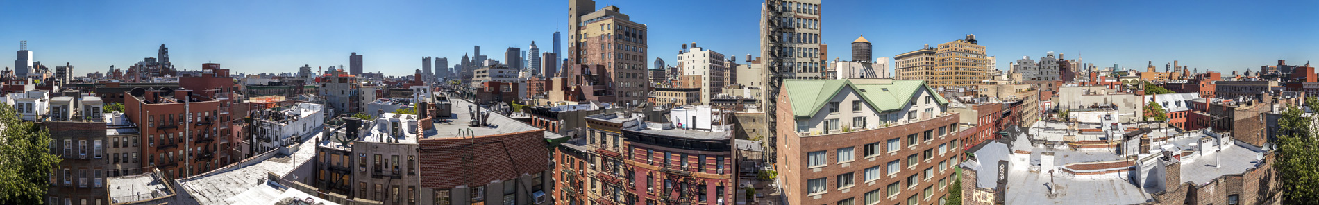 little italy in nyc showing panoramic 360 view using drone aerial copter
